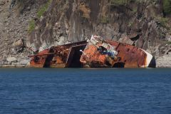 Ship wreck off St Kitts
