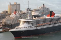 Cunard's three Queens arrive in Southampton