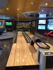 The bowling lanes at The Sports Bar