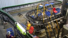 Production line Kingfisher Brewery Goa