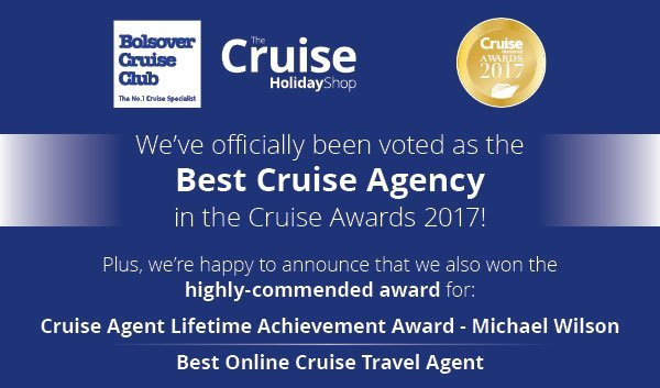 Bolsover Cruise Club named 'Best Cruise Agency' in the Cruise Awards 2017